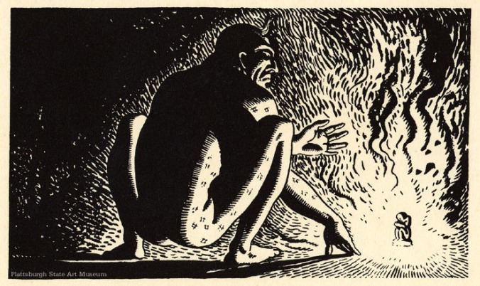 """Queequeg"" Rockwell Kent illustration"
