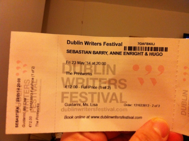 Dublin Writers Festival - May 23, 2014