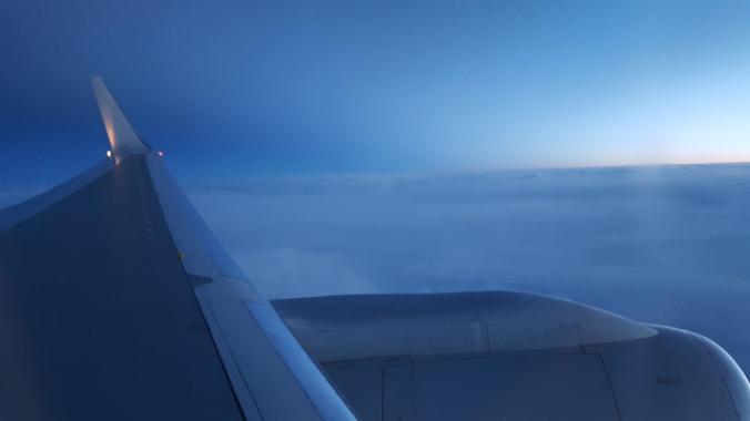 Dusk, over the Atlantic