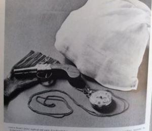 Patrick Bronte's pistol and nightcap