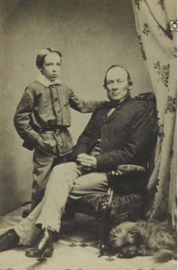 RLS and his father, Thomas, 1860