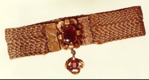 Mourning jewelry - hair of Anne and Emily Bronte