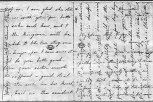 Letter from Anne to Ellen Nussey