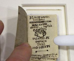 Tiny books made by the Bronte children